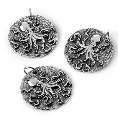 Silver Kraken Pendant
