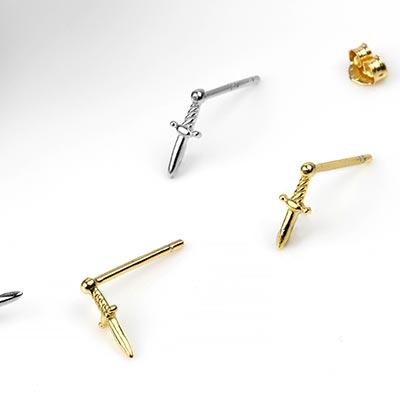 Sword Stud Earrings