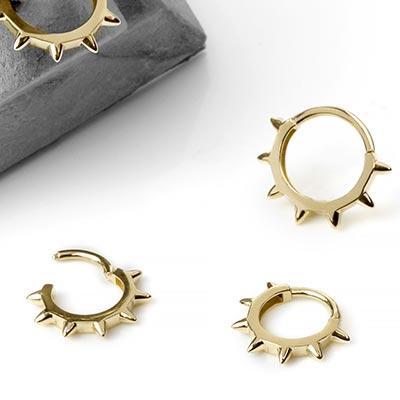 14K Gold Spike Collar Clicker