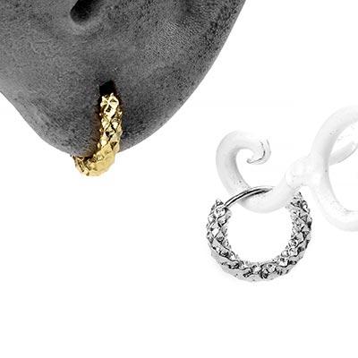 Textured Huggie Earring