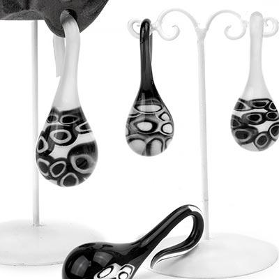 Glass Millefiori Lagrimas Drop Weights