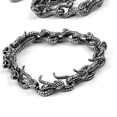 Steel Snake Bracelet