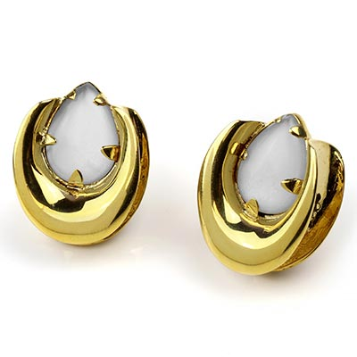 Solid Brass Saddles with Moonstone