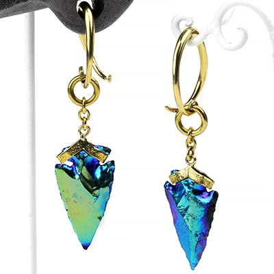 Solid Brass Titanium Coated Arrowhead Weights