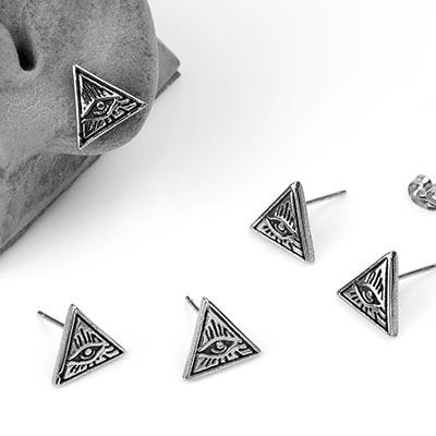 Steel Illuminati Stud Earrings