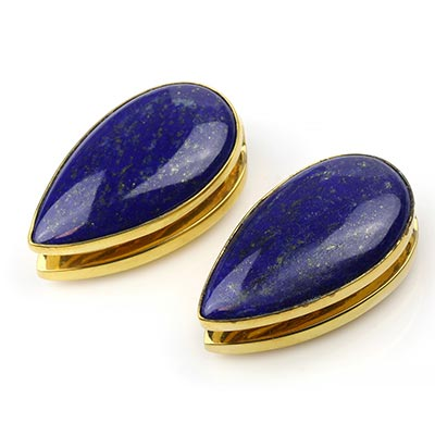 Solid Brass Long Spade Weights with Lapis