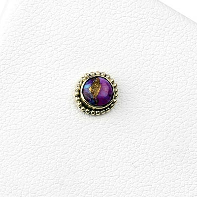 14k Gold Threadless End with Charoite