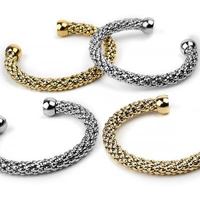 Steel Chain Mail Cuff Bracelet