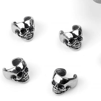 Steel Skull Ear Cuff