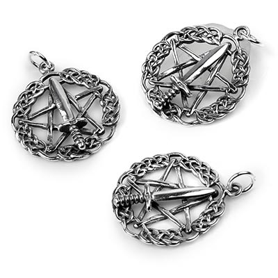 Silver Witches Athame Pendant