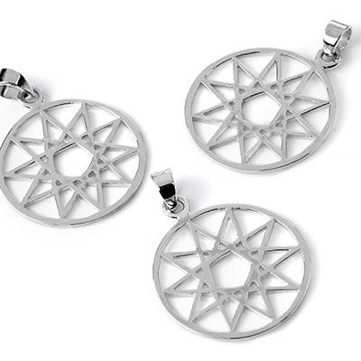 Silver Decagram Star Pendant