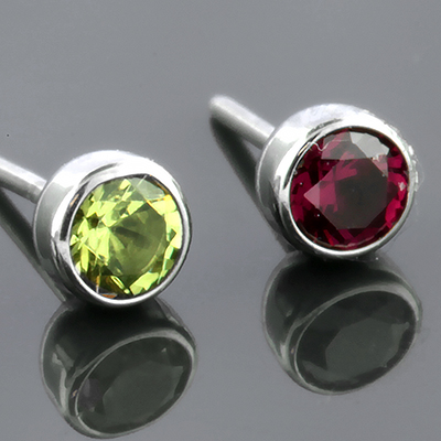 16g Non-Conversion Threadless Faceted Gem End