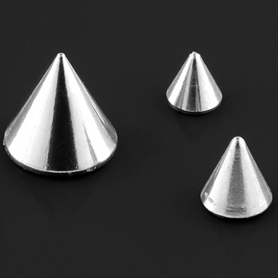 Threaded steel cone