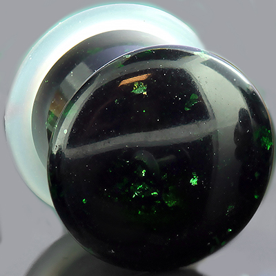 Single Flare Green Goldstone Plugs