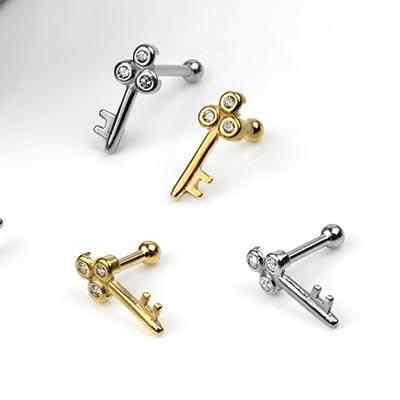 Steel Key Barbell