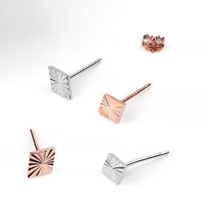 Radiant Diamond Stud Earrings