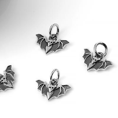 Silver Bat Charm Pendant