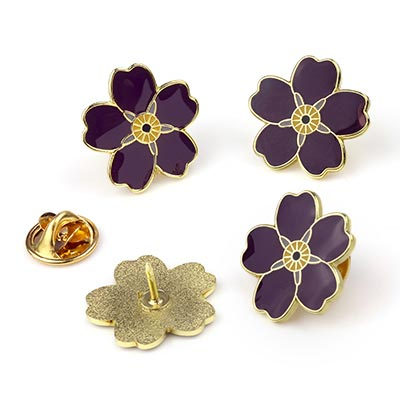 Purple Forget-Me-Not Pin
