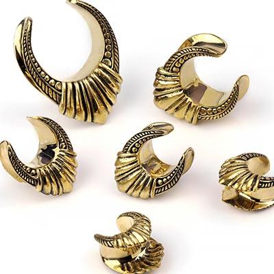 Brass Palm Saddles