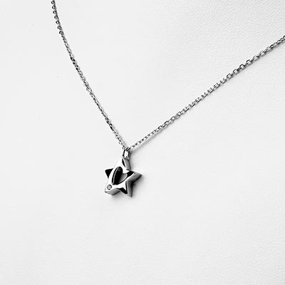 Silver Starry Heart Necklace