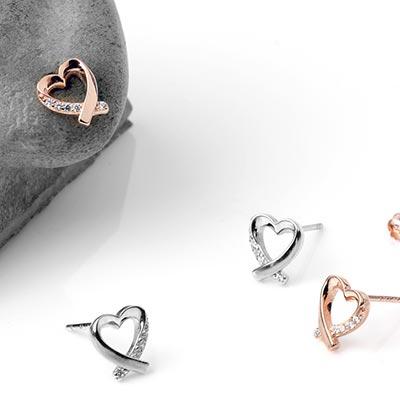 Cross My Heart Stud Earrings