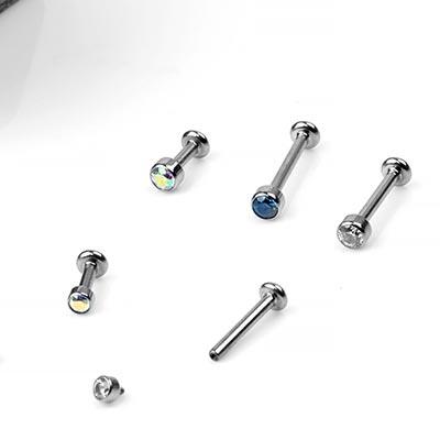 Titanium Labret with Micro Gem