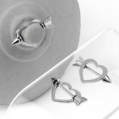 Steel Cupid's Arrow Nipple Shield