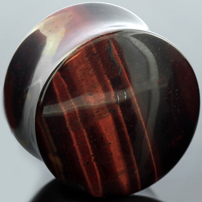 Red Tiger Eye Stone Plug