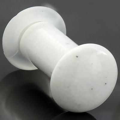 Single Flare White Agate Plugs