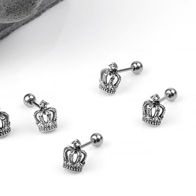 Silver Imperial Crown Barbell