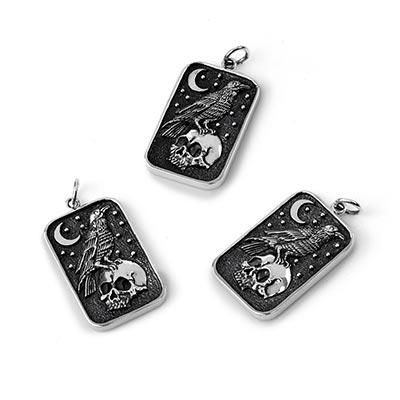 Silver Nevermore Pendant
