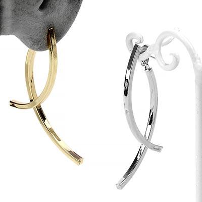 Modern Arc Dangle Earring