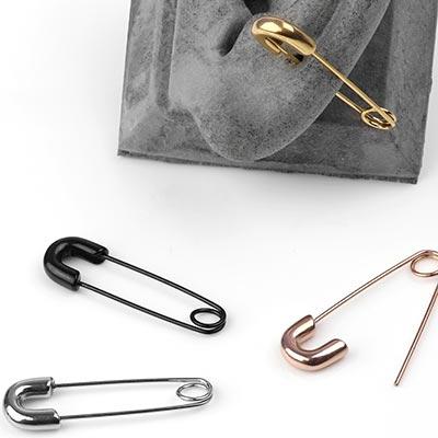 Steel Safety Pin Earrings