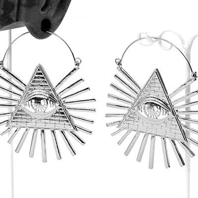 Steel Illuminati Earrings