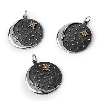 Silver Mystic Moon Pendant