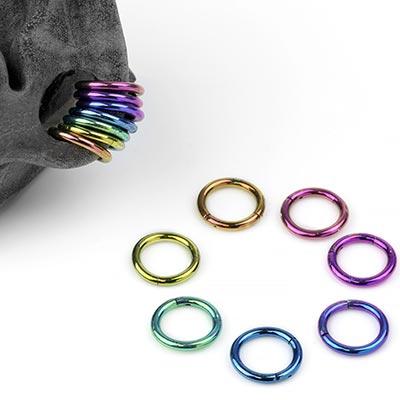 Titanium Rainbow Stack Ring Sets