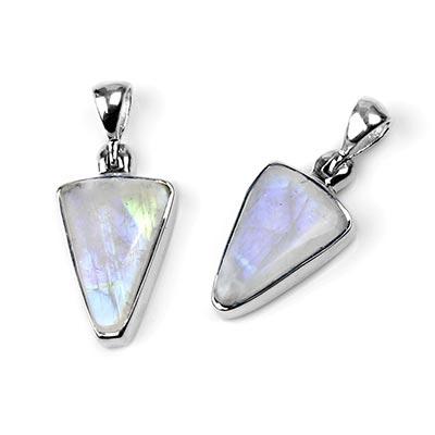 Silver and Rainbow Moonstone Pendant