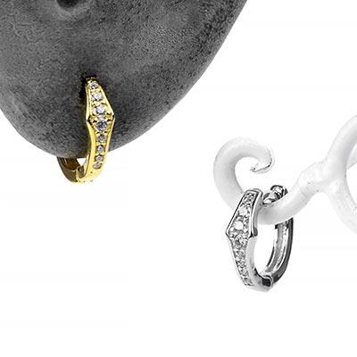 Gem Lined Huggie Earring
