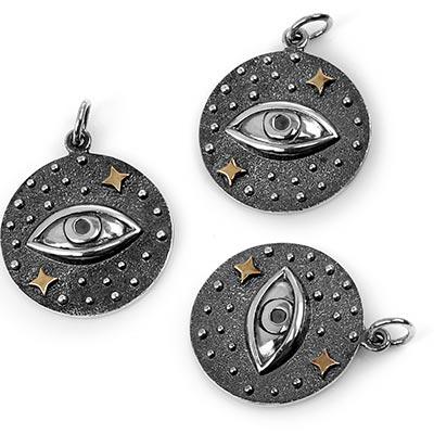 Silver Cosmic Eye Pendant