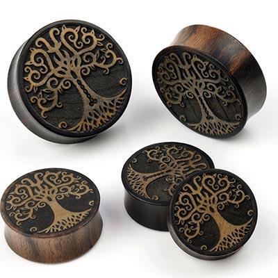 Dark Tamarind Wood Yggdrasil Plugs