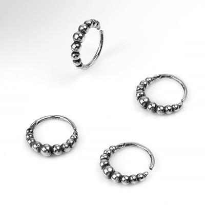 Silver Pebble Seamless Ring