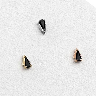Solid 14k Gold It Was All A Dream Threadless End with Black Agate