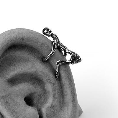 Steel Skeleton Ear Cuff