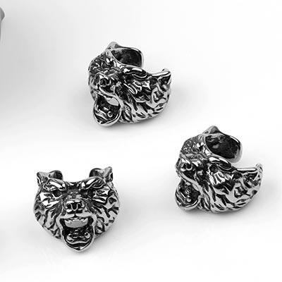 Steel Bear Ear Cuff