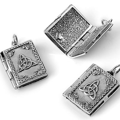 Silver Charmed Book of Shadow Locket