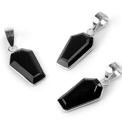 Silver Coffin Pendant