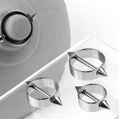 Steel Circular Nipple Shield with Spike Ends