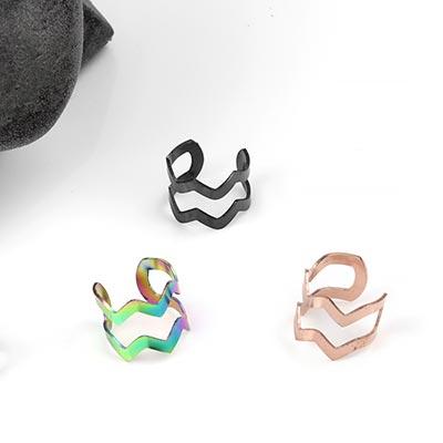 Steel Zig-Zag Ear Cuff