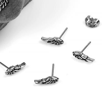 Steel Wing Earrings
