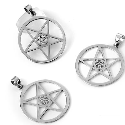 Silver Double Pentagram Pendant